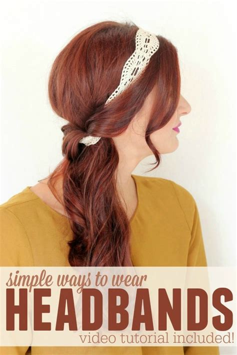6 different ways to wear a headband faith allen hair design 17 best ideas about headband hairstyles on pinterest