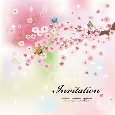wedding invitation vector templates free download songwol