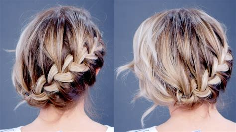 v diagonal hairstyle hairstyle of the day simple diagonal french braid updo