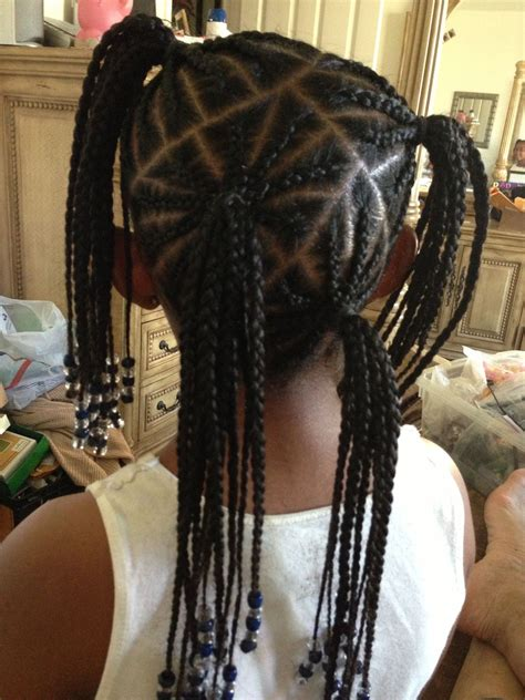 short braid and ponytails designs kids cute braided style for little girl hair for kids