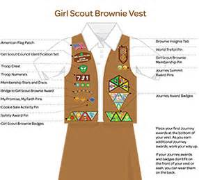 where to place insignia on a brownie vest follow link for additional information on placement