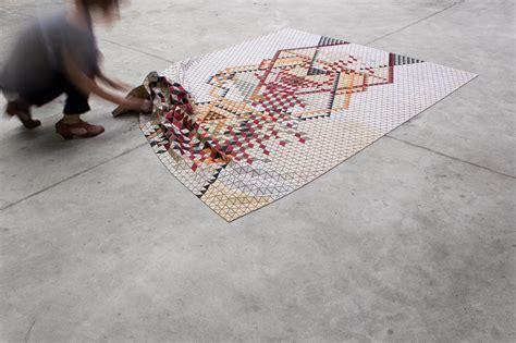 design milk rugs colored wooden rugs by elisa strozyk design milk