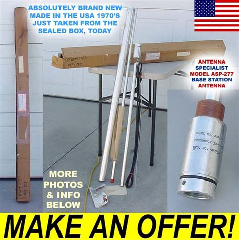 nib usa 6 meter ham cb radio base vertical antenna