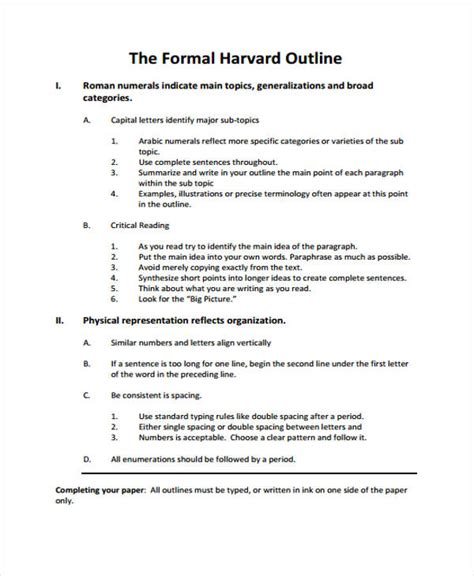25 Outline Format Free Premium Templates Formal Template
