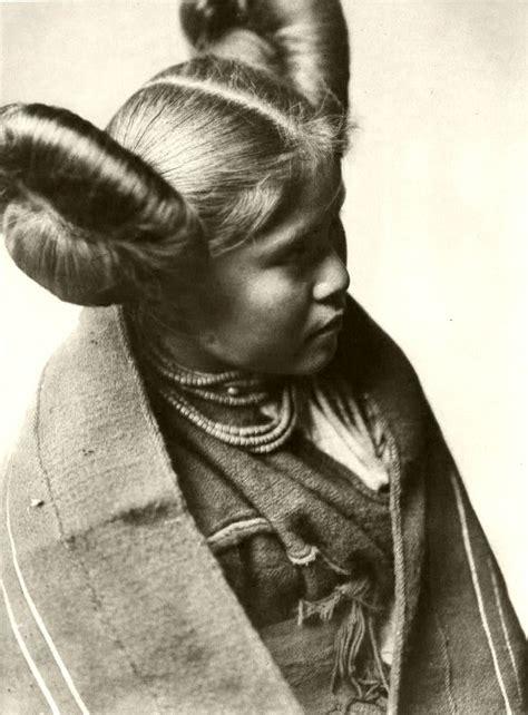 navajo women hair styles edward s curtis chaiwa a tewa indian girl with