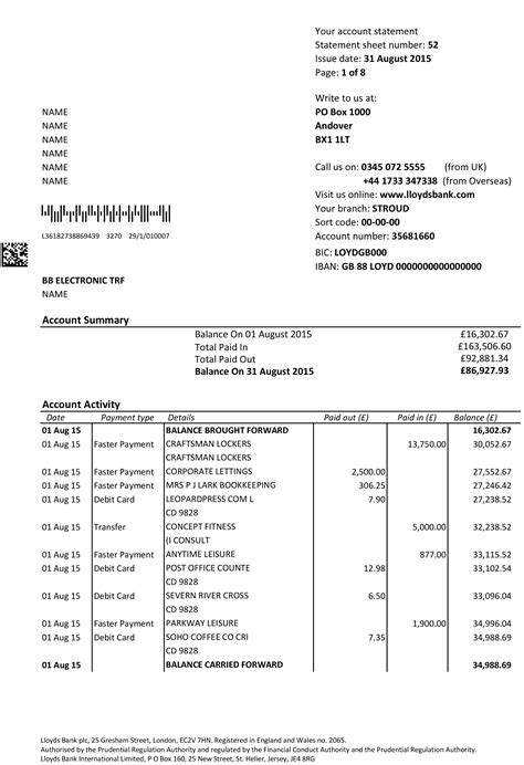 Bank Letter Of Essex Documents Bank Statements Utility Bills P60 P45 Sa302 And Payslips