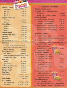 Menu Dunkin Donuts Dunkin Donuts Philippines Menu Images