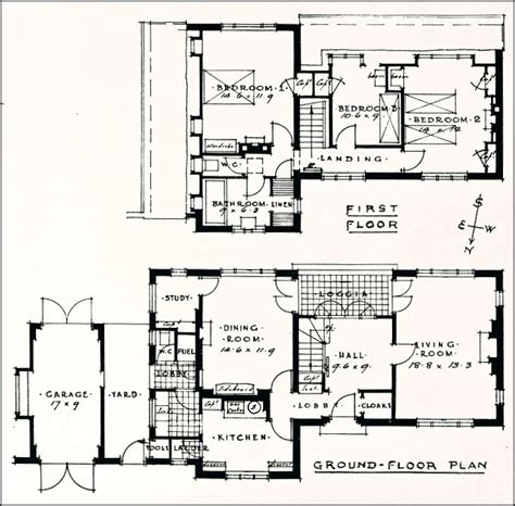 1930s bungalow floor plans 1930s house plans