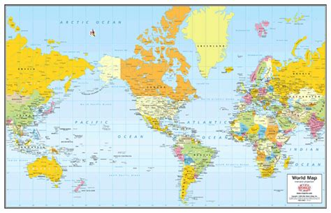 world political wall map  wide world  maps