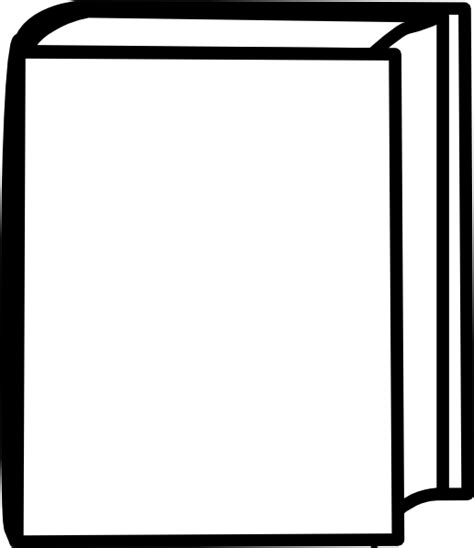 outline picture of a book white closed book clip at clker vector clip
