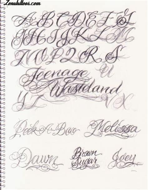 imagenes escrita geniales letras para tatuajes cursiva abecedario letras para tatuajes