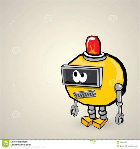 doodlebug drawing robot orange doodle robot stock vector image 54957822