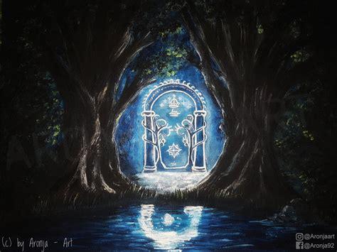 the door of durin by aronja on deviantart