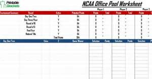 Open Office Football Pool Ncaa Office Pool March Madness Office Pool 187 Printable