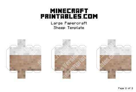 Minecraft Papercraft Pdf - sheep printable minecraft sheep papercraft template