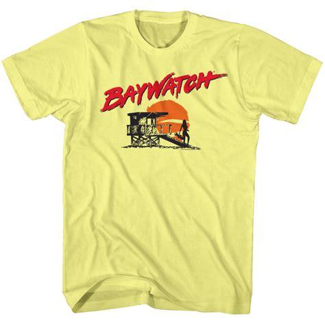 Baywatch Tshirt baywatch shirt silhoutte yellow t shirt baywatch shirts