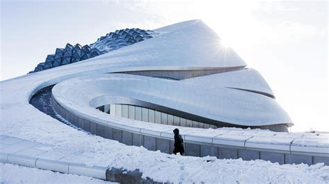 Harbin Opera House by Exclusive See New Photos Of Mad Architects Harbin Opera