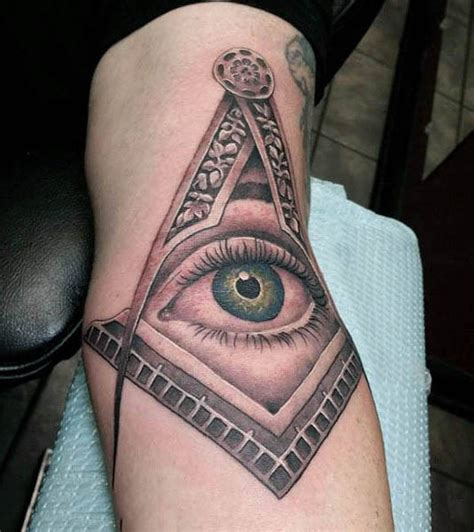 Tattoo Eye Mason | 90 masonic tattoos for men freemasonry ink designs
