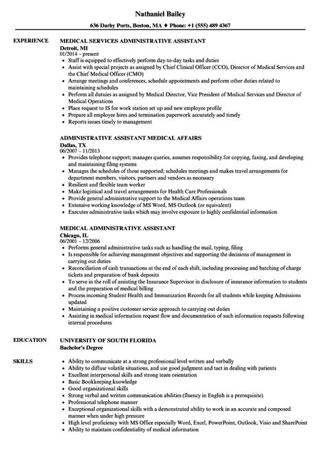 resume samples for medical office assistant examples professional 3