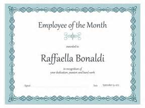 Employee Of The Month Certificates Templates Certificate Employee Of The Month Blue Chain Design