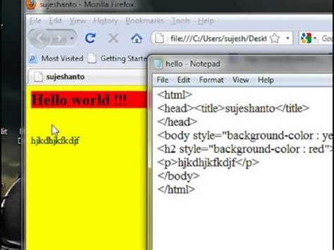 html tutorial youtube in tamil html basic in tamil part 2 youtube