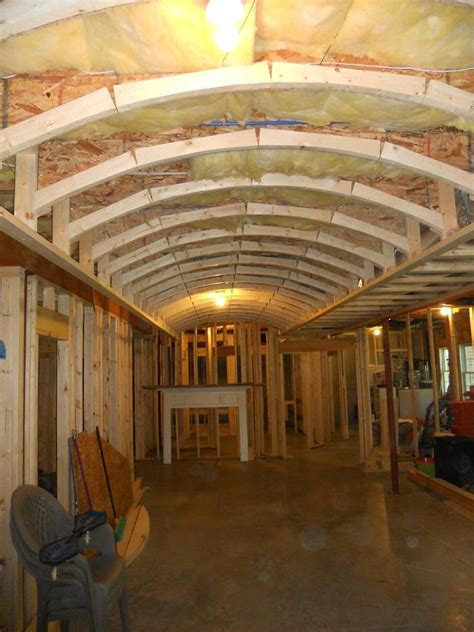How To Build A Barrel Ceiling by Framing For A Barrel Vaulted Coffered Ceiling