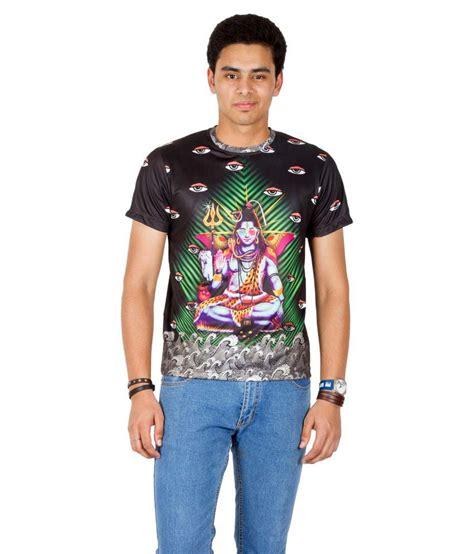 design t shirt online with sleeve print design guns multicolor polyester half sleeves printed men