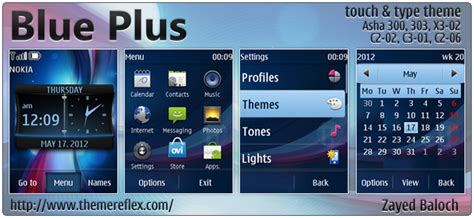 nokia c2 blue themes blue plus theme for nokia asha 303 x3 02 c2 06 touch