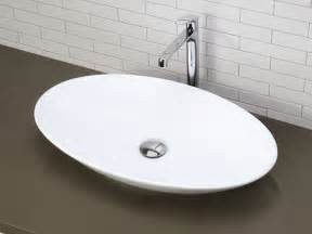 shallow bathroom sinks white shallow oval ceramic vessel sink