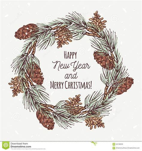 Card Frames Templates Pine Boughs by Greeting Card With Wreath And Stock