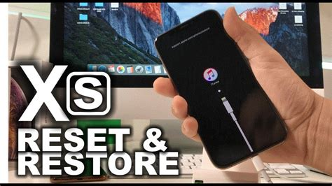 how to reset restore your apple iphone xs factory reset