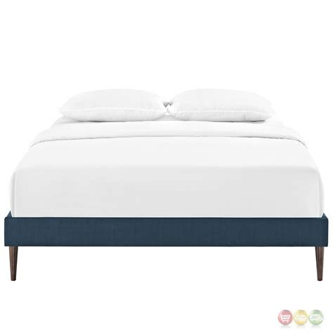 king upholstered bed frame sherry upholstered fabric king platform bed frame azure