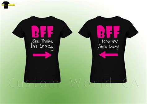 t shirt layout for best friends couple tee bff best female friend couple matching t