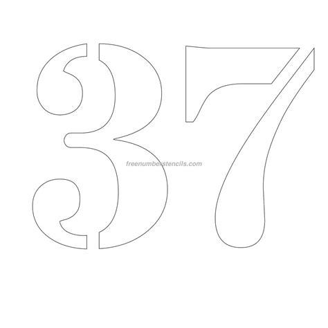 printable 12 inch number stencils free 12 inch 37 number stencil freenumberstencils com