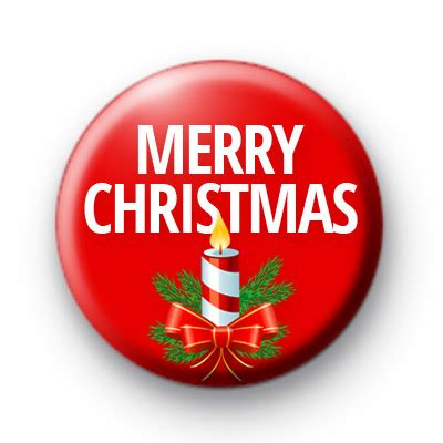 red candle merry christmas badges kool badges