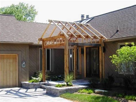 covered front porch plans 1000 ideas about front porch pergola on pinterest