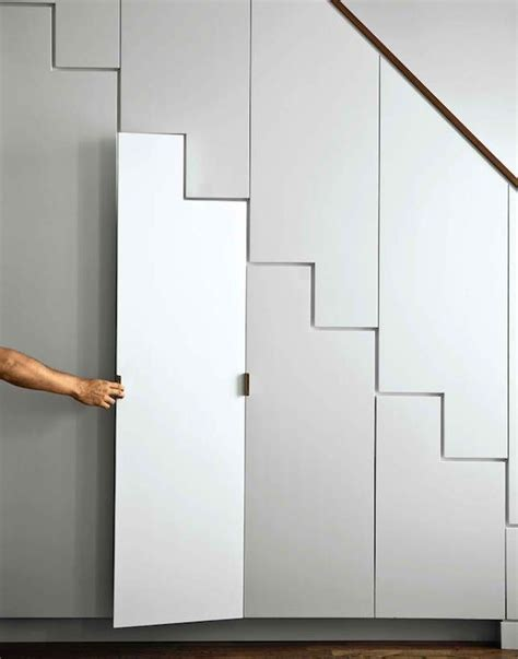 Stair Storage Closet by The Stairs Closet Modern Entrance Foyer