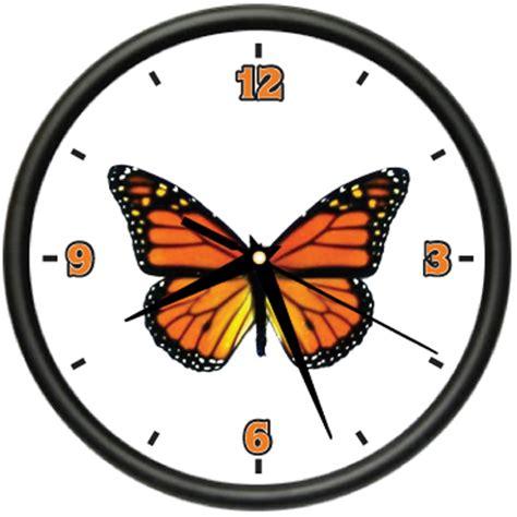 butterfly 1 wall clock butterflies monarch home decor ebay