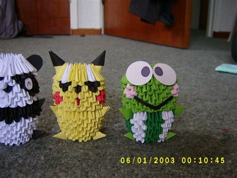 Origami 3d Animals - 3d origami animals by juls2 on deviantart