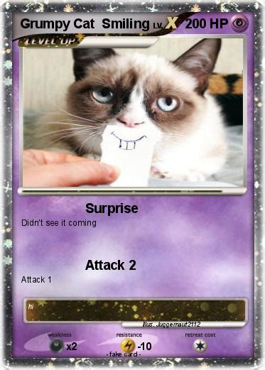 card grumpy cat pok 233 mon grumpy cat smiling my card