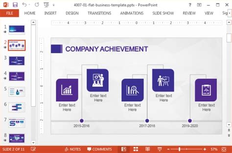 ppt templates for achievement business powerpoint template with violet color palette by