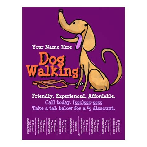 flyer advertisement template walking advertising promotional flyer zazzle