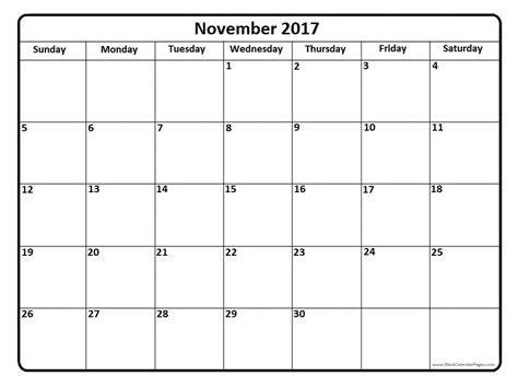 november 2017 calendar template weekly calendar template