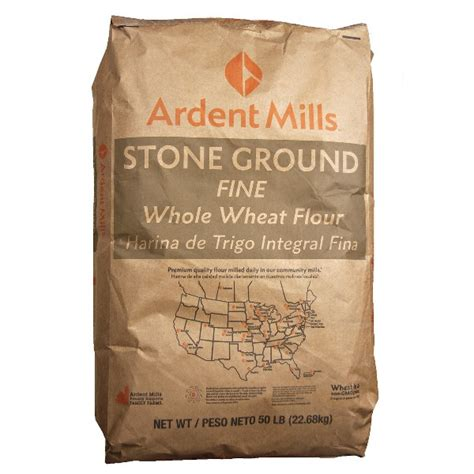 producers organic wheat flour millers stone ground fine stone ground whole wheat flour 50lb ardent mills bulk