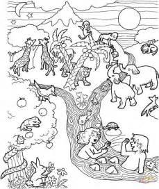 garden creatures coloring pages coloriage adam et 200 ve dans le jardin d 201 den coloriages