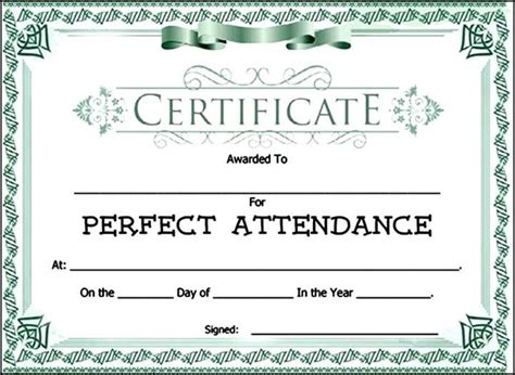 attendance certificate template free attendance award certificate template sle templates