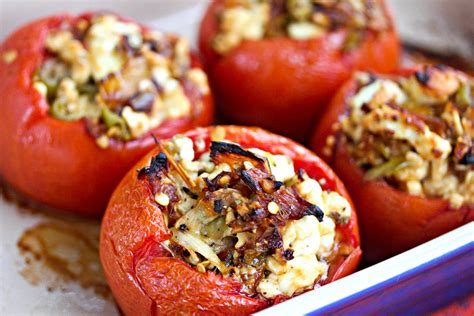 roasted tomatoes recipe baked stuffed tomatoes with feta and roasted peppers