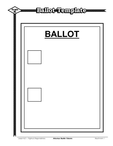 word ballot template vote ballot template www pixshark images galleries