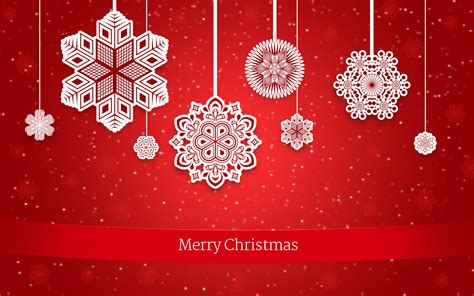 create christmas greeting card  decorative snowflakes  red background  adobe