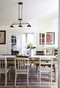 Casual Dining Room Lighting Inspired By Mismatched Dining Chairs The Inspired Room